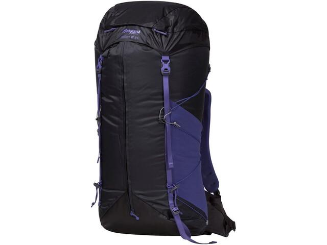 Bergans Helium 55 Backpack Dame solid charcoal/funky purple